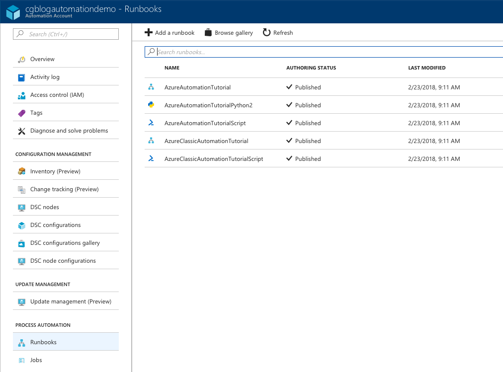 Fun with Azure Automation and Table Service REST API | Chris's Blog