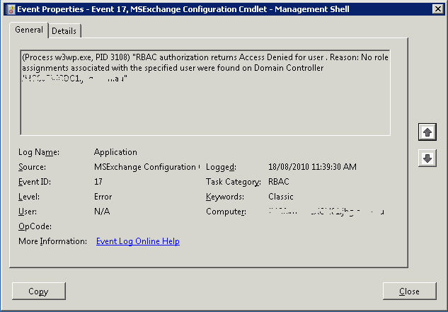 w3wp.exe on exchange server 2010