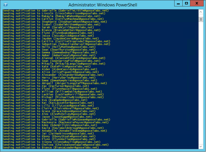 Using PowerShell to bulk email your users | Chris's Blog