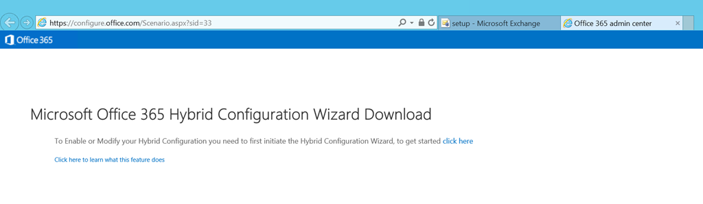 A look at the Microsoft Office 365 Hybrid Configuration Wizard