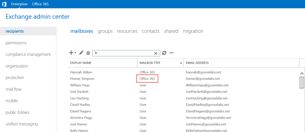 "How to create a remote ""Office 365"" mailbox in a hybrid deployment ..."